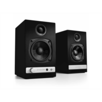 A551996 Audioengine HD3 Wireless Powered Speakers with DS1 Desktop Speaker Stands (Cherry) - Newegg.com