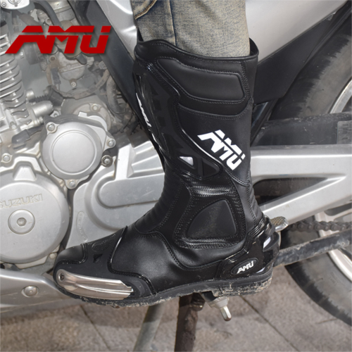 W954386 AMU motorcycle boots knight equipment racing shoes waterproof breathable drop resistance friction road trip riding boots for men and women
