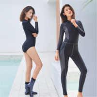 Z999424 Diving suit female split two-piece long-sleeved trousers sunscreen swimwear surf snorkeling suit tide suit jellyfish clothing