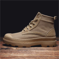 C834489 Martin boots to help men autumn breathable men's casual canvas high-top shoes tide wild men tooling boots England