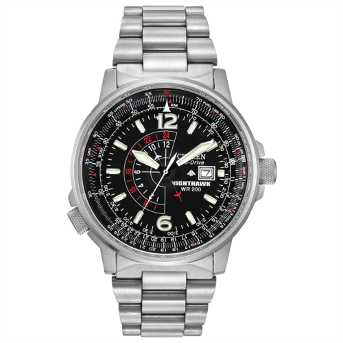 U585312 Citizen Watches BJ7000-52E Eco-Drive Nighthawk Stainless Steel Watch