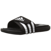 M610908 adidas Originals Men's Adissage Sandal, Black/Black/White, 4 M US