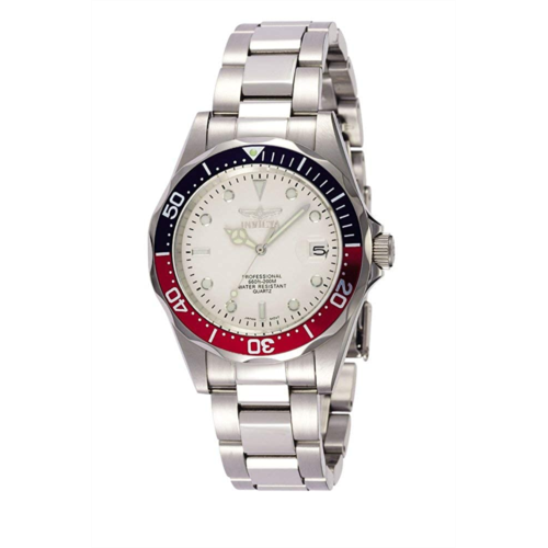 H113966 Invicta Men's Pro Diver Quartz Watch with Stainless-Steel Strap, Silver, 18 (Model: 8933)