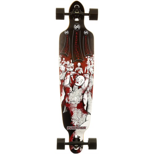 I859500 Punisher Skateboards 40-Inch Longboard Skateboard with Drop-Through Canadian Maple Concave Deck, Assorted Styles