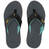 O161653 Reef Mens Sandals Phantom | Athletic Flip Flops For Men With Contoured Footbed | Waterproof