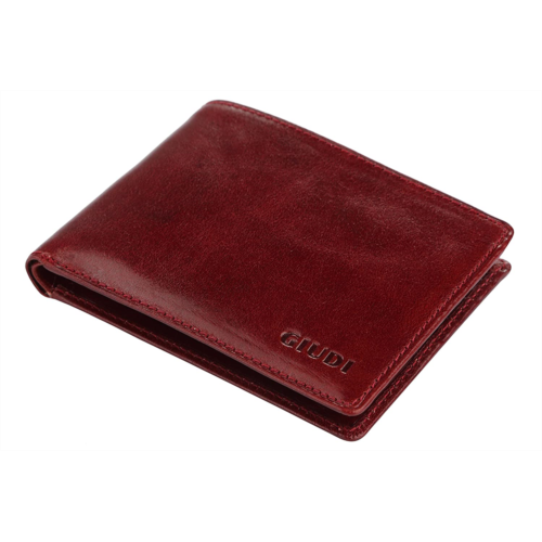 E133752 Giudi Luxury Genuine Leather Bifold Men's Wallet 8 Card Holder Made in Italy Expensive Slim and Comfortable