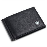 P510071 BMW Bifold Money Clip Wallet with 6 Credit Card Slots - Genuine Leather