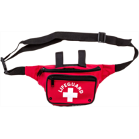 E933804 BLARIX Guard Fanny Pack with Drain Holes and Water Bottle Strap (Red)