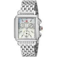 I312283 Michele Women's Deco Diamond Dial Stainless Steel Watch