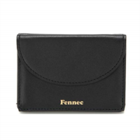 n364059 fennec women's half moon mini wallet card case coin purse cow leather unihot