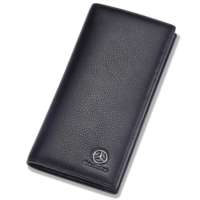 B893314 Mercedes Benz Long Wallet with 11 Credit Card Slots ID Holder - Genuine Leather